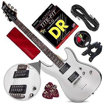 Schecter OMEN-6 Guitarra eléctrica de 6 cuerdas (blanco vintage ...