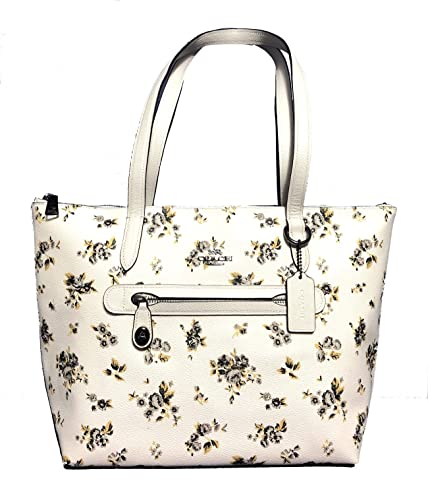 5cd2d62f945 COACH Womens Flower Patchwork Pvc Taylor Tote
