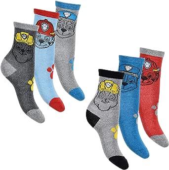 Nickelodeon - Pack de 6 calcetines para niño con muchos diseños y patrulla canina Mezcla de colores: 9. 23/26 EU: Amazon.es: Ropa y accesorios