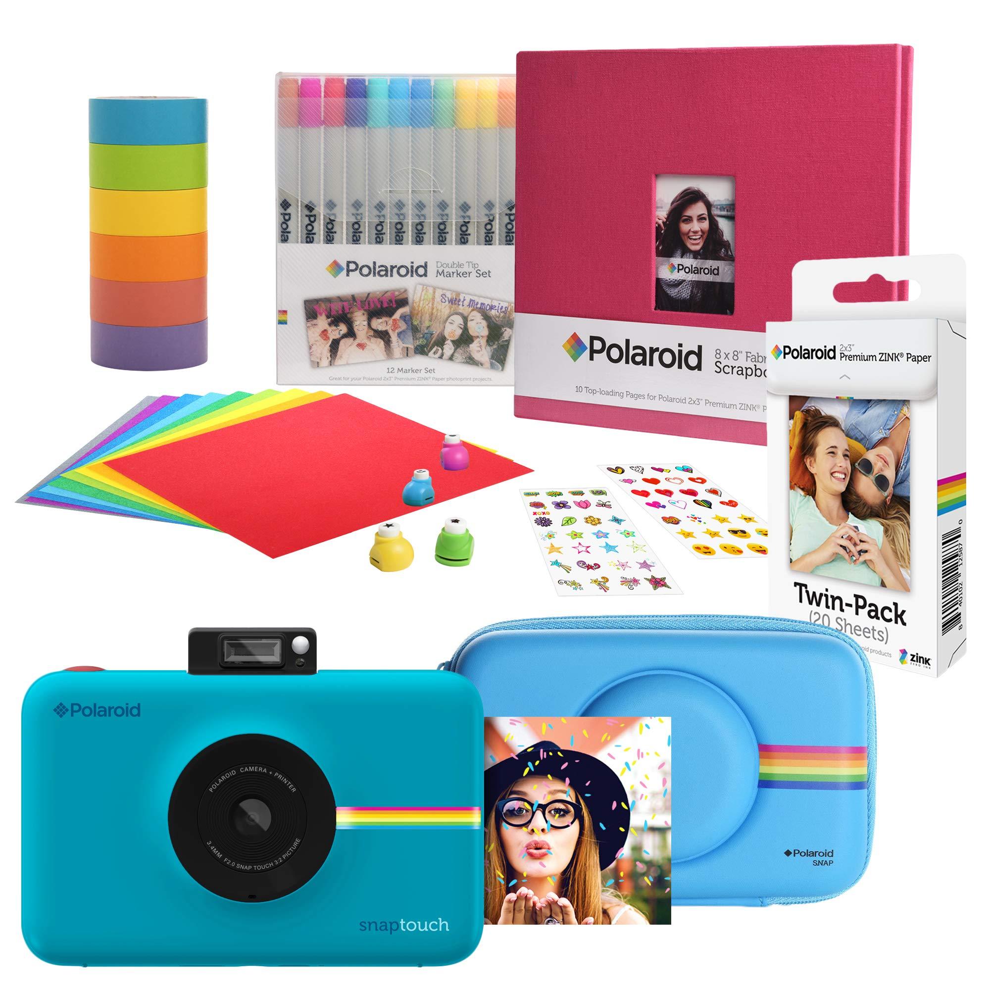 Polaroid Snap Touch Instant Digital Camera (Blue) Scrapbook Kit with Eva Case by Polaroid