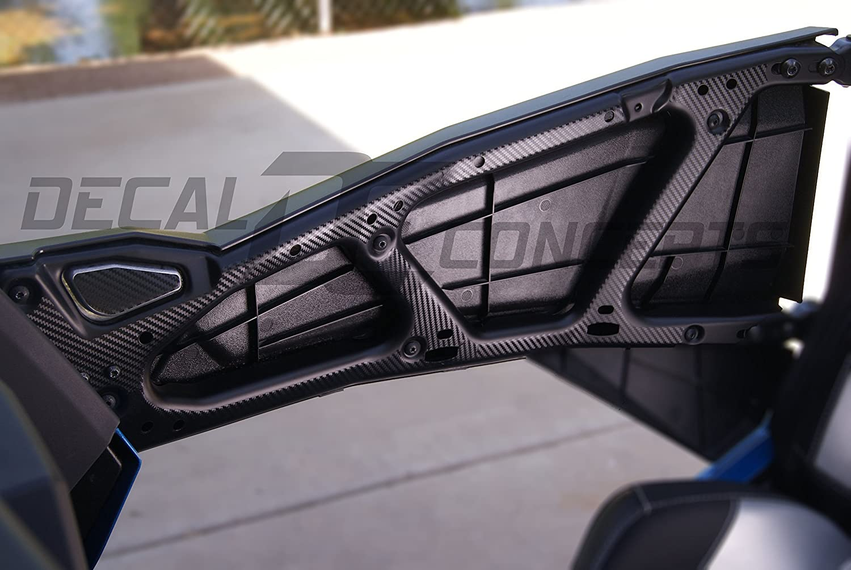 RZR 1000 Carbon Fiber Interior Door Frame Decal Kit - 1000 (2 pc) (Orange Carbon Fiber) Decal Concepts