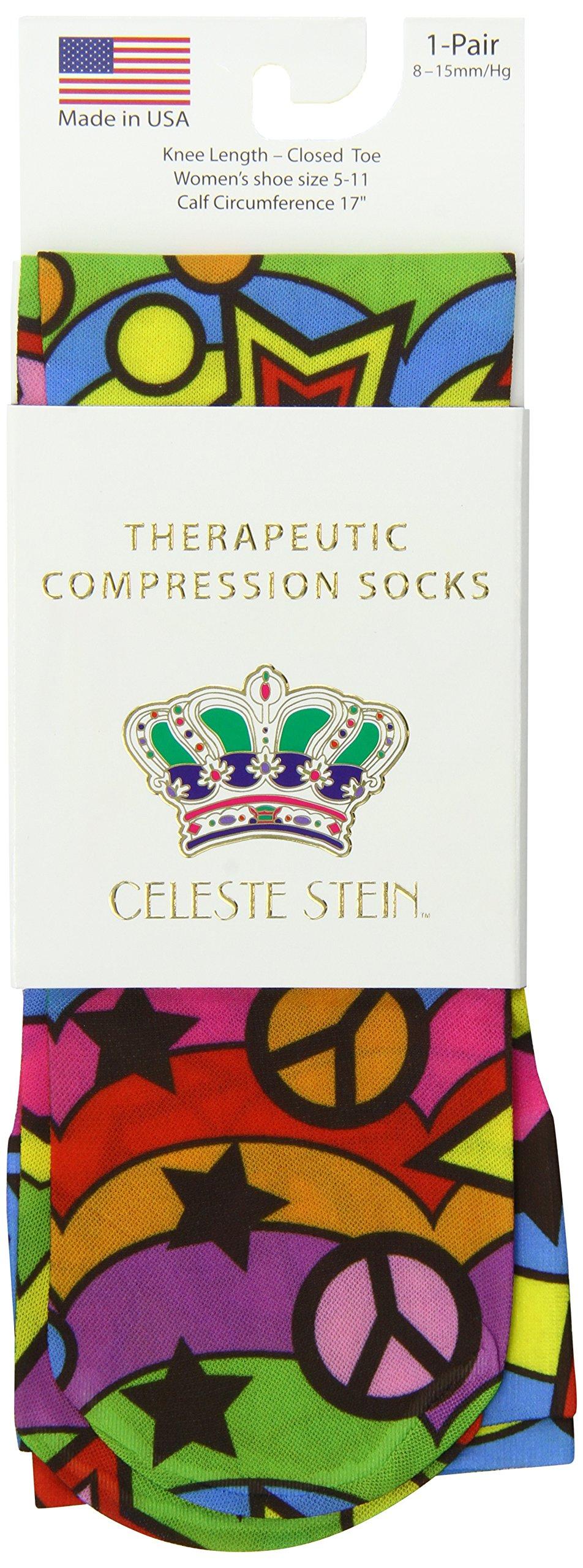 Celeste Stein Therapeutic Compression Socks, Rainbow 60's, 8-15 mmhg.6 Ounce