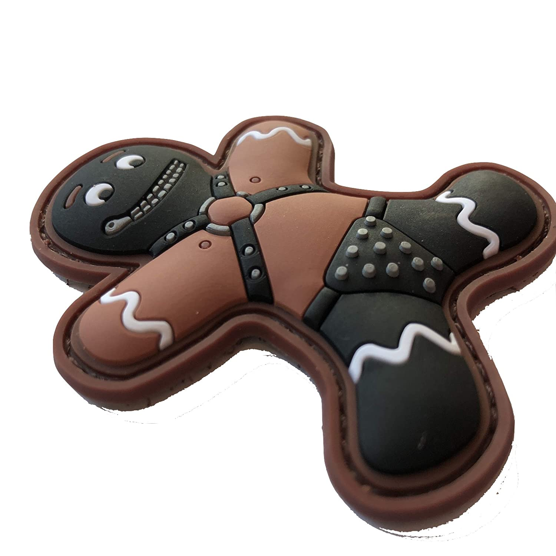 TACOPSGEAR Gingerbread Lebkuchenmann Zippermask SM Fetish Patch