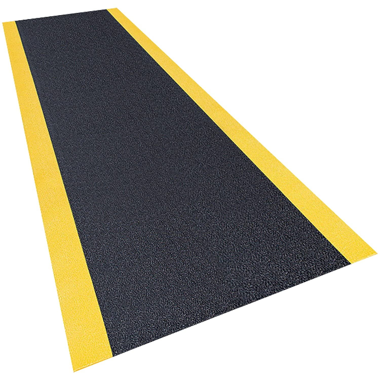 Pebble Step Sof-Tred MAT265BY Premium Anti-Fatigue Mat, 3' x 10', Black/Yellow by Pebble Step Sof-Tred B0015UTX8E