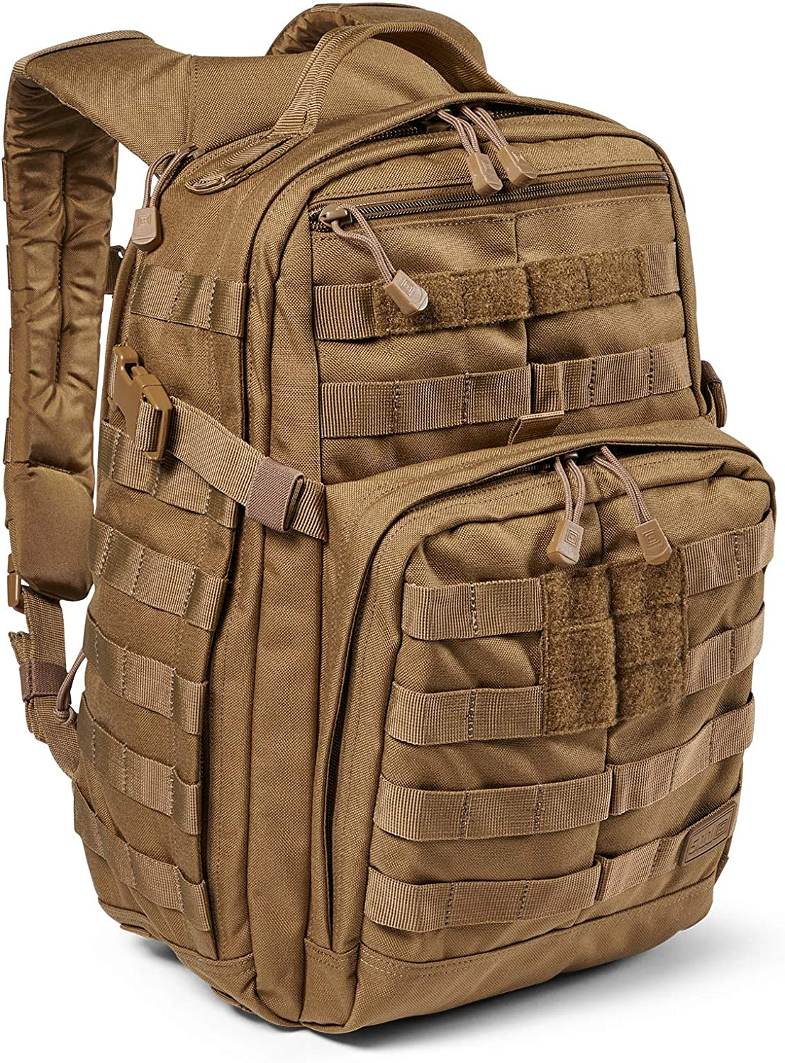 5.11 Tactical Backpack – Rush 12 2.0 – Military Molle Pack, CCW and Laptop Compartment, 24 Liter, Small, Style 56561, Kangaroo