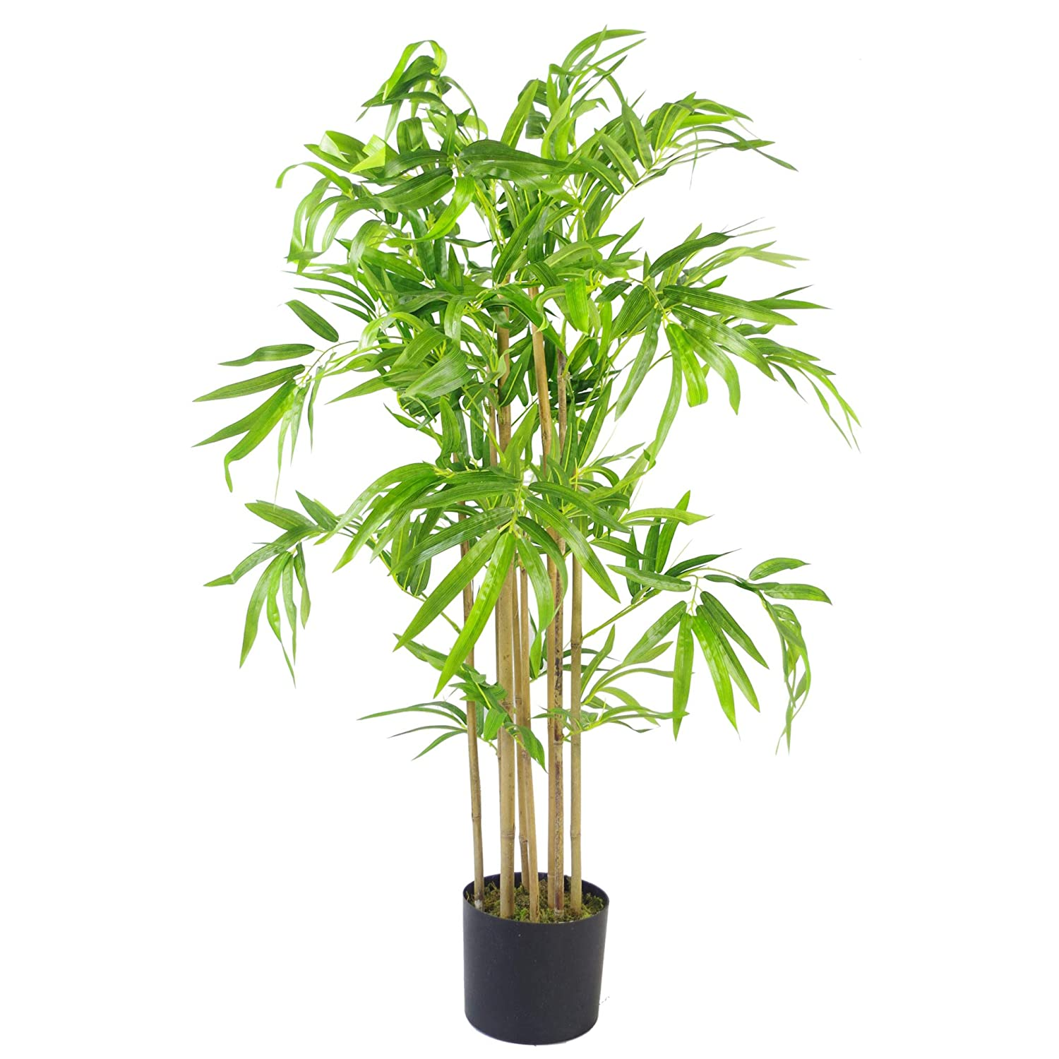 Leaf Design UK Plantes artificielles en Bambou Marron Taille XL 90 cm