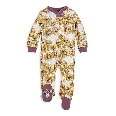 Organic One-Piece Romper-Jumpsuit PJ Sleepers Newborn Who are You Burts Bees Baby Baby Girls Sleep /& Play