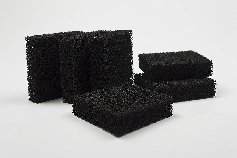 LTWHOME Compatible CARBONE Filtres En Mousse Bloc Aquarium S'Adapte Juwel Jumbo/BioFlow 8.0 Filtre (Pack de 12) Ltd.