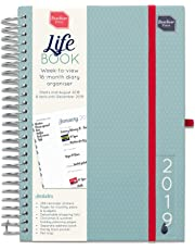 Boxclever Press 2019 Life Book Diary. Week-to-View A5 Diary with Large Spaces for Each Day. Shopping Lists, Budget Sections. Starts straightaway 'til December 2019 (2019)