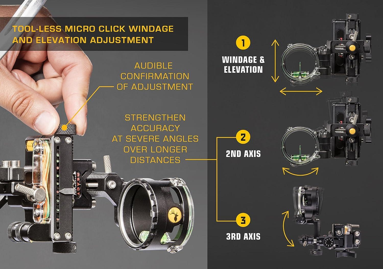 TROPHY RIDGE REACT ONE PRO archery scope lens Optix 300