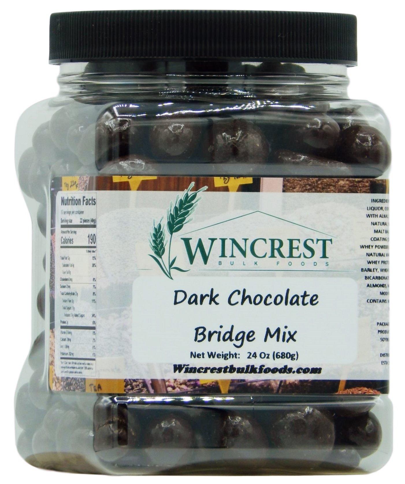 Dark Chocolate Bridge Mix - 1.5 Lb Tub by WinCrest BulkFoods