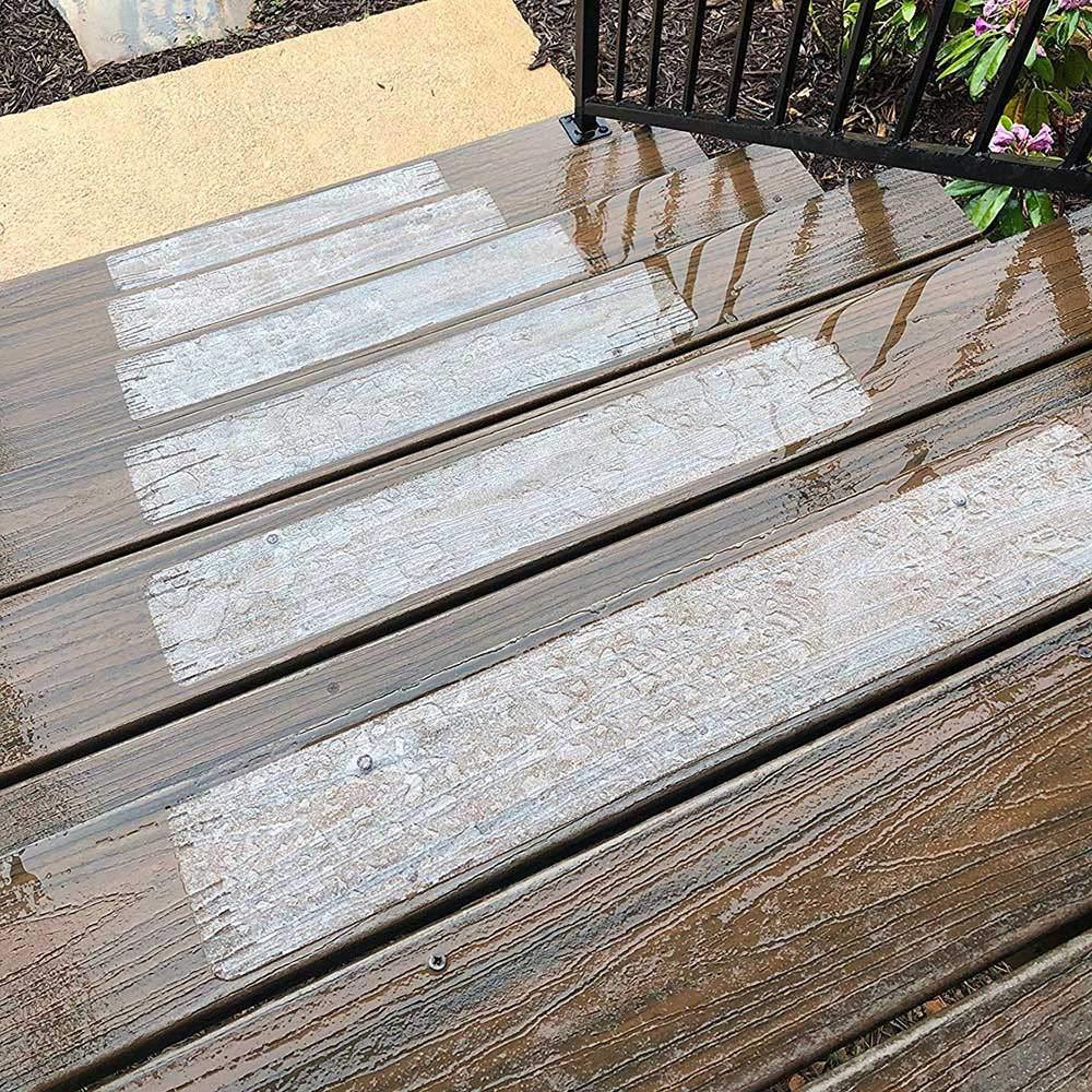6pc VNEIRW Anti Rutsch Streifen//Antirutschsticker Dusche Transparent//Antirutsch Sticker Badewanne//Anti Rutsch Streifen Aussentreppe,Selbstklebender,38cm lang 2cm