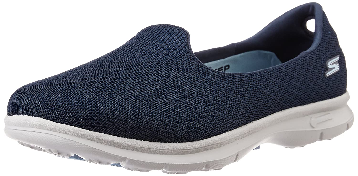 Skechers Go Step-Elated Damen Sneaker Slipper Schwarz  36.5 EU|Navy/Gray