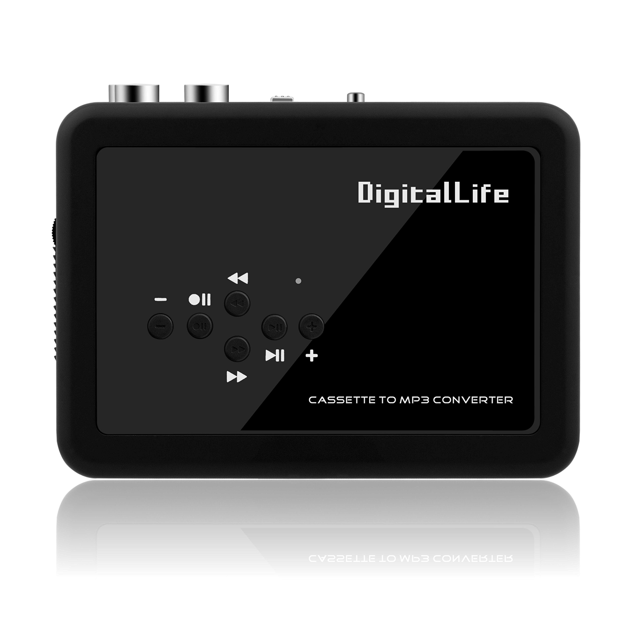DigitalLife Stand-Alone Dual Functional Stereo Cassette to MP3 Converter to Pen Drive Disk/Music Player (PC Independent,USB Flash Disk,WalkMan)