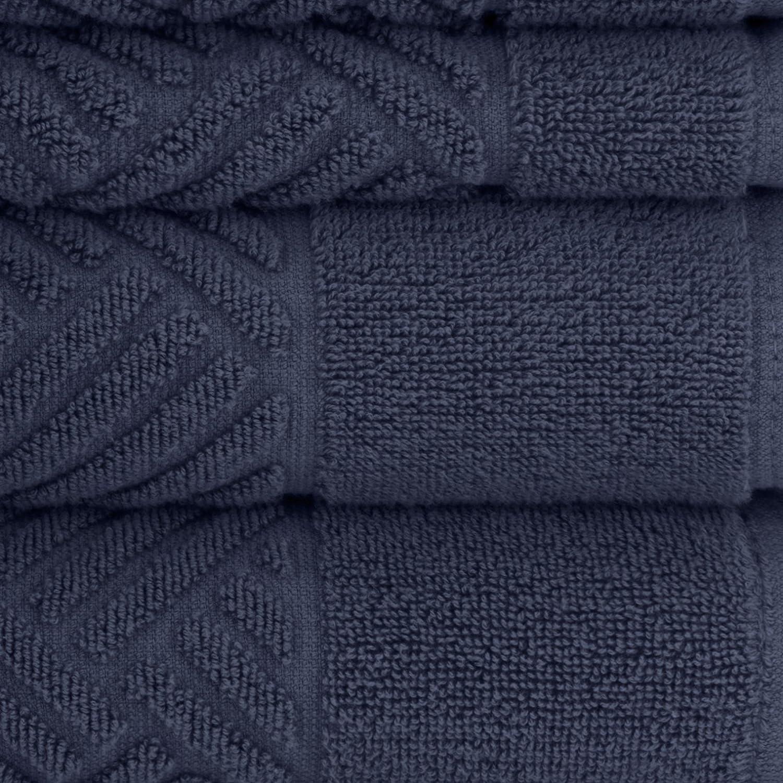 Briarwood Home Jacquard Bars 6 Piece Towel Set 6PC Steel Grey