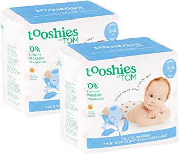 Tooshies by TOM Nappies for Infant, 68 count (2 x 34 pack)