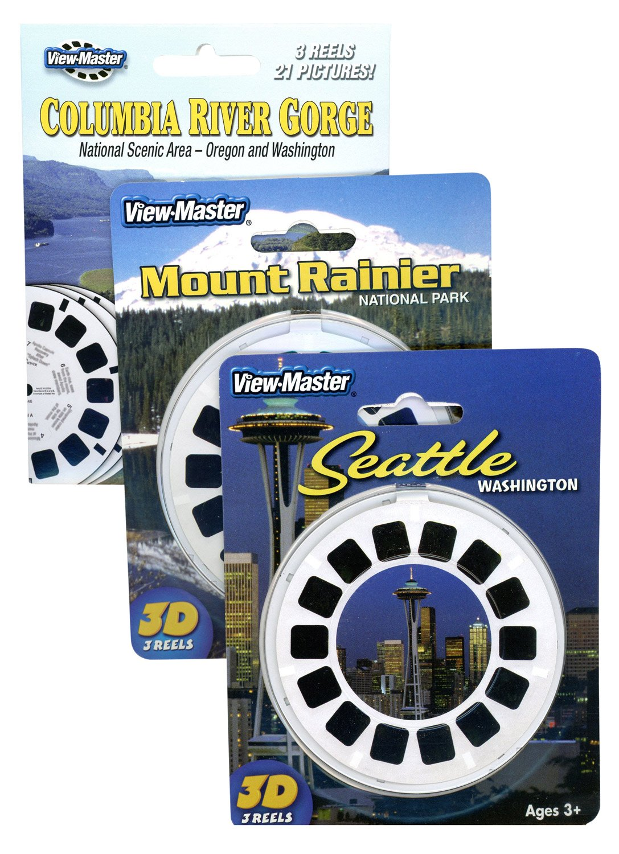 Columbia River Gorge - Mt Rainier - Seattle - Triple Vintage ViewMaster Set - 9 Reels