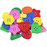 """Roylco R-2143 Really Big Buttons, 3.6"""" Wide, 7.4"""" Length, 3.2"""" Height (30 Pieces)"""