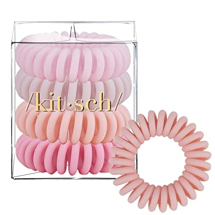 4pcs Hair Coils Phone Cord Hair Ties Coil Hair Ties Kitsch Spiral Hair Ties