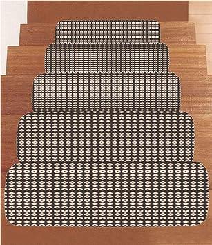 SoSung - Juego de 5 alfombrillas de forro polar para escalera, estilo irlandés, diseño de San Patricio, a cuadros culturales, con tréboles decorativos, 21,6 x 70 cm, multicolor: Amazon.es: Juguetes y juegos