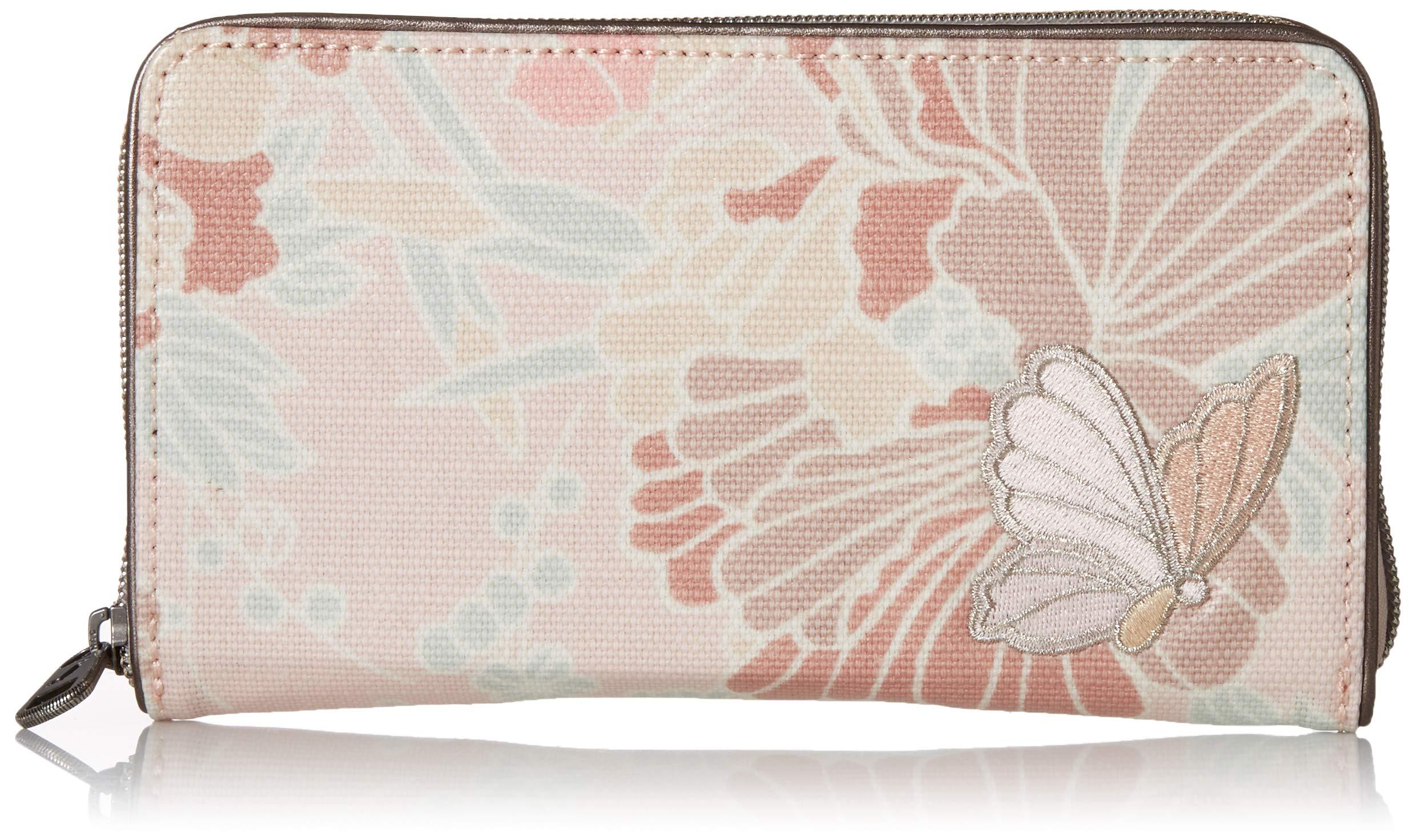Sakroots Unisex-adults Large Zip Around Wallet, Petal Pink Flower Blossoms