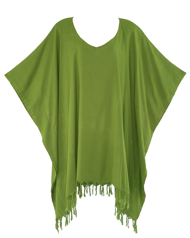 Beautybatik Boho Solid Tunic Blouse Kaftan Caftan Top SZ XL to 4X