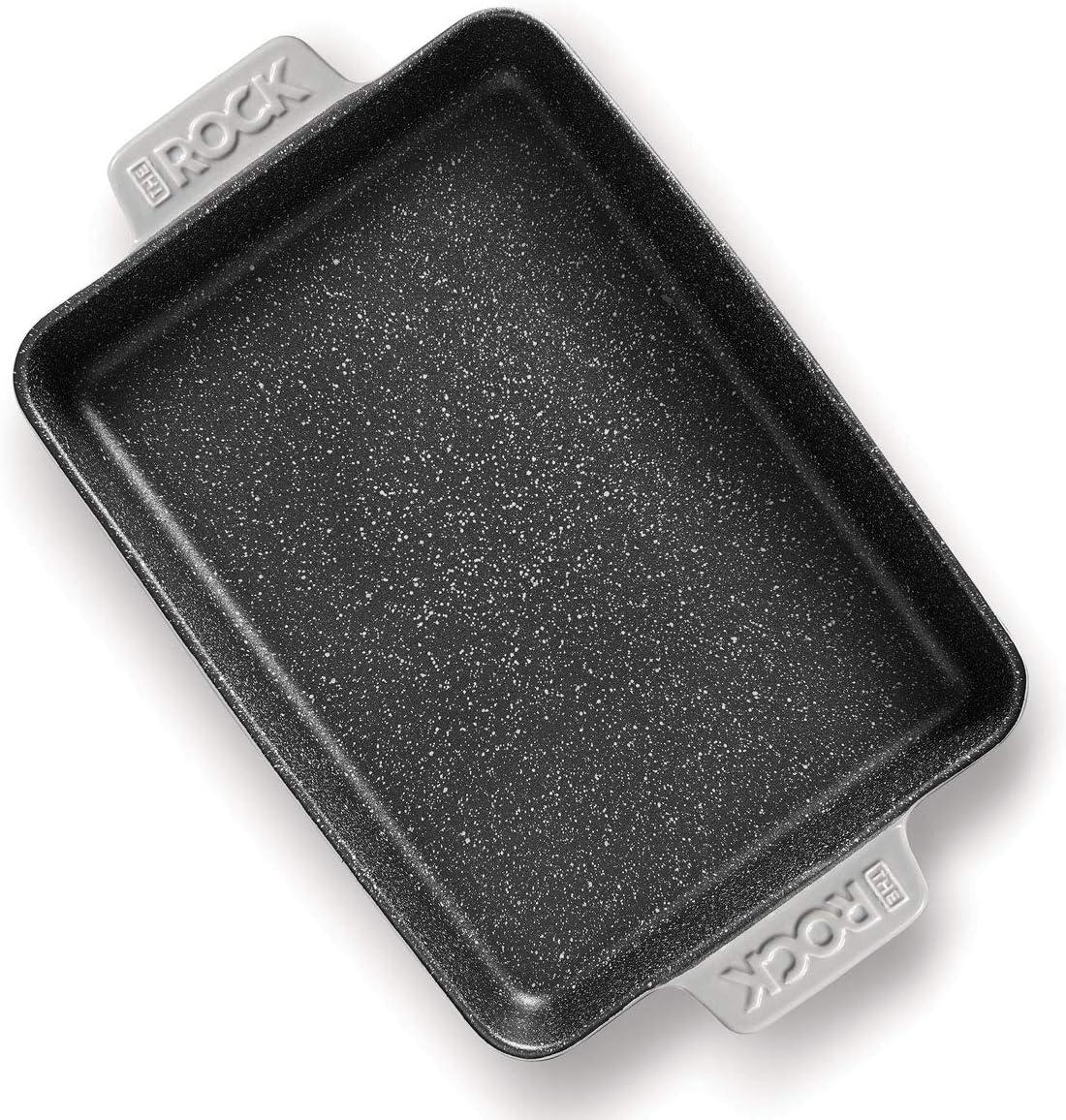 Starfrit 034387-004-0000 Starfrit The Rock Ceramic Ovenware Rectangular Dish 13 x 9 Grey