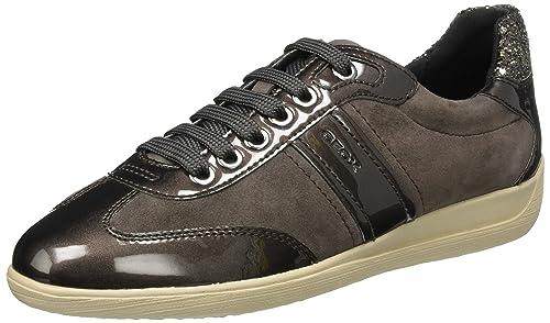 Geox D Myria a, Zapatillas para Mujer, Marrón (Chestnut), 35 EU