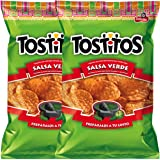 Tostitos Salsa Verde Flavored Tortilla Chips To Dip Snack Care Package for College, Military,