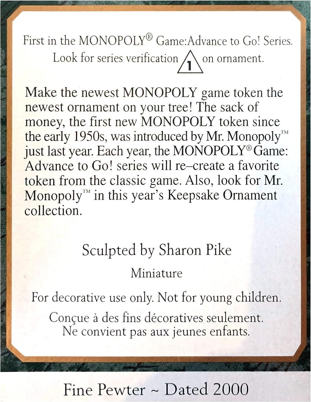 Ornamento del recuerdo de sello - Monopolio saco de dinero (ornamento miniatura) 2000 (qxm5341): Amazon.es: Hogar
