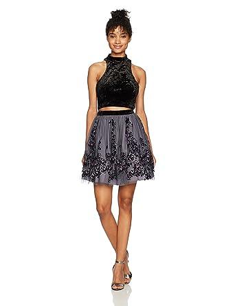 Blondie Nites Womens 58153 Formal Dress, Black/Grey, ...