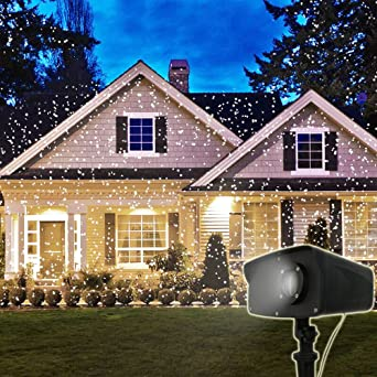 Amazon.com: Outdoor White Laser Lights Xmas Projector Laser ...