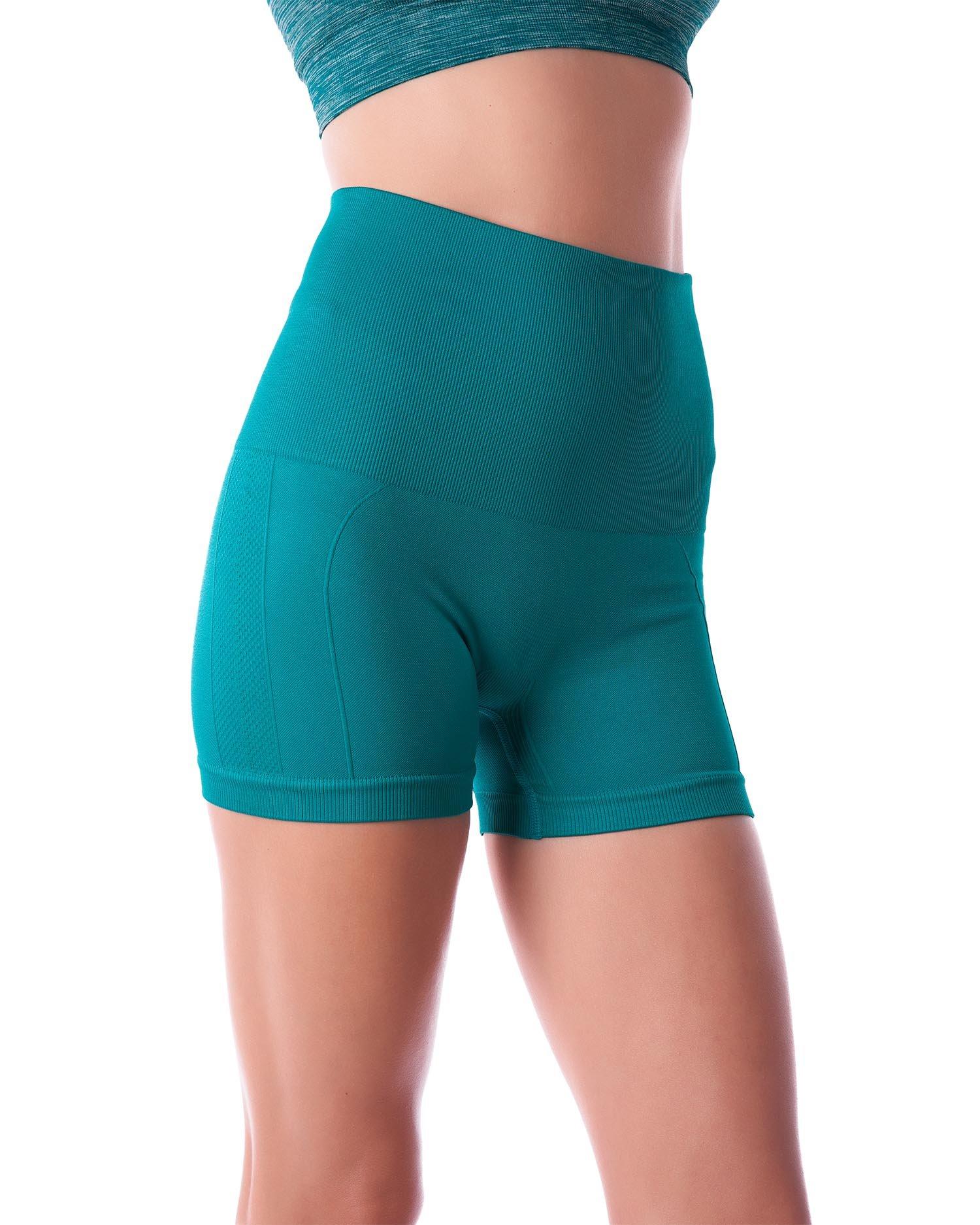 Homma Women's Tummy Control Fitness Workout Running Bike Shorts Yoga Shorts ... (Large, Jade 2) by Homma