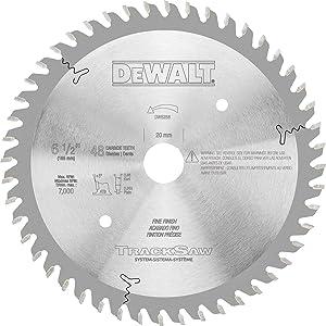 DEWALT DW5258 6-1/2-Inch by 48T Ultra Fine Finishing TrackSaw Blade
