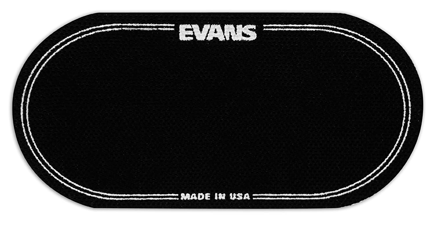 Evans EQ Double Pedal Patch, Black Nylon Evans Heads EQPB2