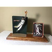 $34 » Roberto Clemente Fielding Starting Lineup Figure Custom Made Wood Plaque