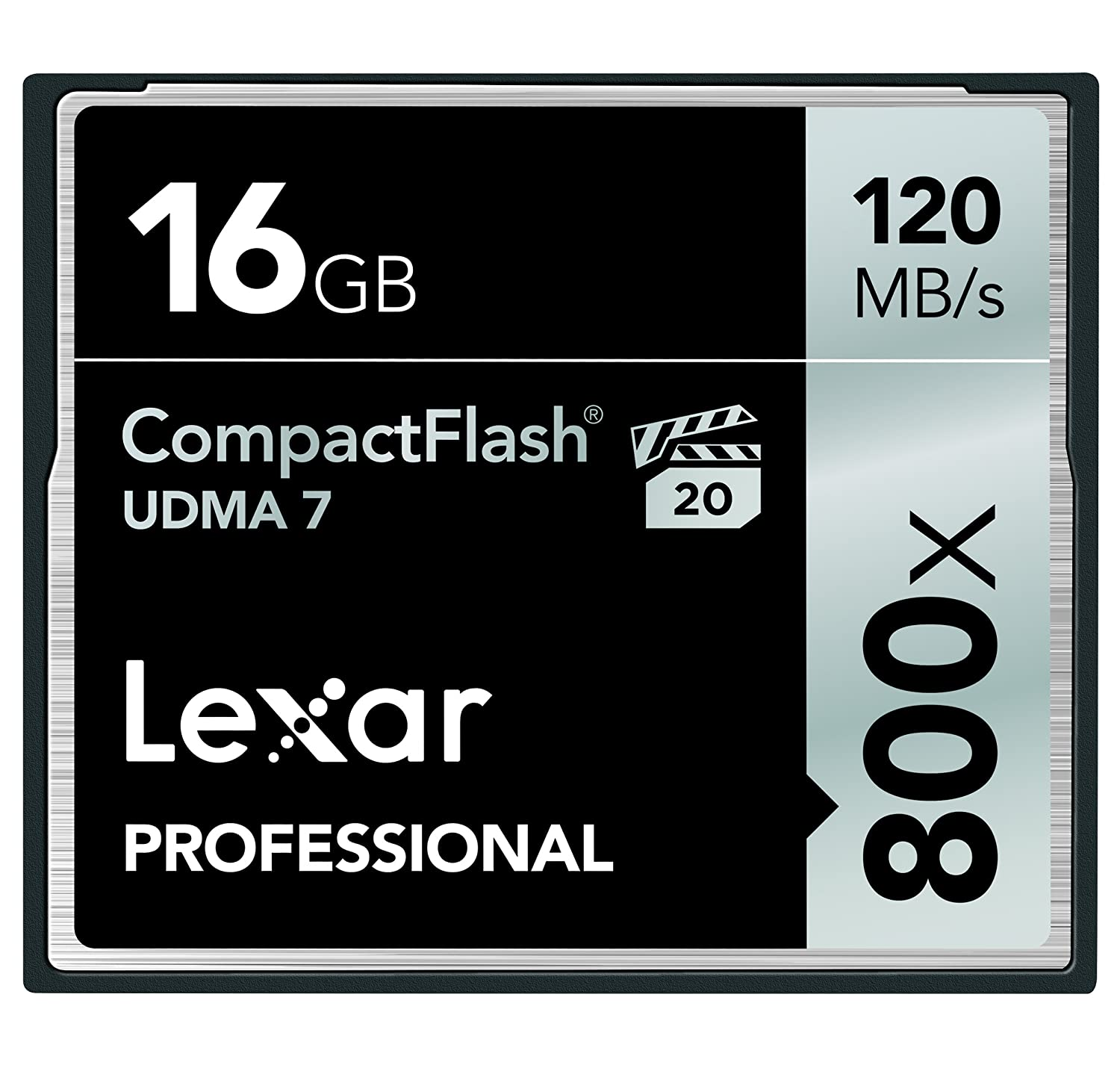 w//Free Image Rescue 5 Software LCF8GBCRBNA800 Lexar Professional 800 x 8GB VPG-20 CompactFlash Card Up to 120MB//s Read