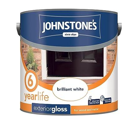 Johnstoneu0027s 309139 750ml Exterior Gloss Paint   Brilliant White