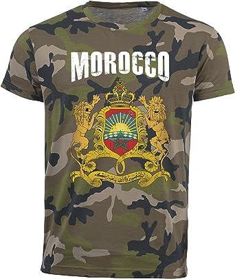 Camiseta con diseño de camuflaje del ejército de Marruecos del Mundial 2018, vintage D01: Amazon.es: Ropa y accesorios