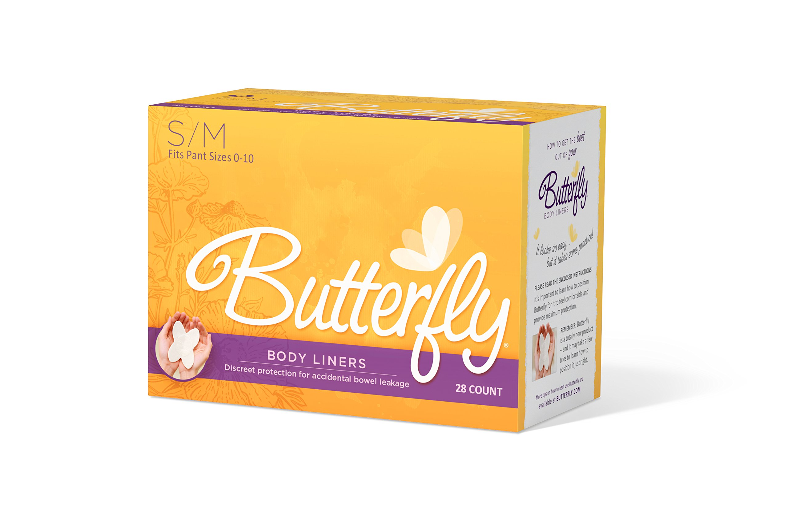 Butterfly Female Body Liners, Small/Medium, 672 Count
