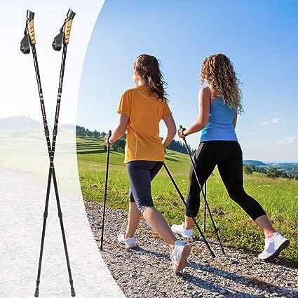 Disponibile in Diversi Colori e Diverse quantit/à TecTake BASTONI Nordic Walking TELESCOPICO Bastoncini Trekking ANTISHOCK Poles