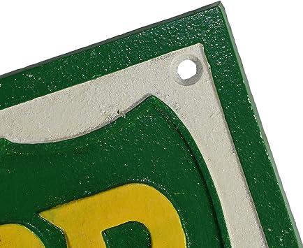 Ab Tools Bp Treibstoff Quadratisch Schild Plakette An Der Wand Der Werkstatt Shop Motor Garten