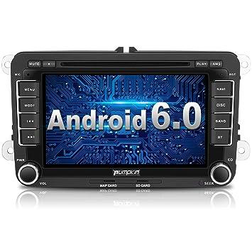 Pumpkin Android 6.0 Auto Radio Reproductor de DVD Moniceiver con navegación GPS para Volkswagen Golf Polo