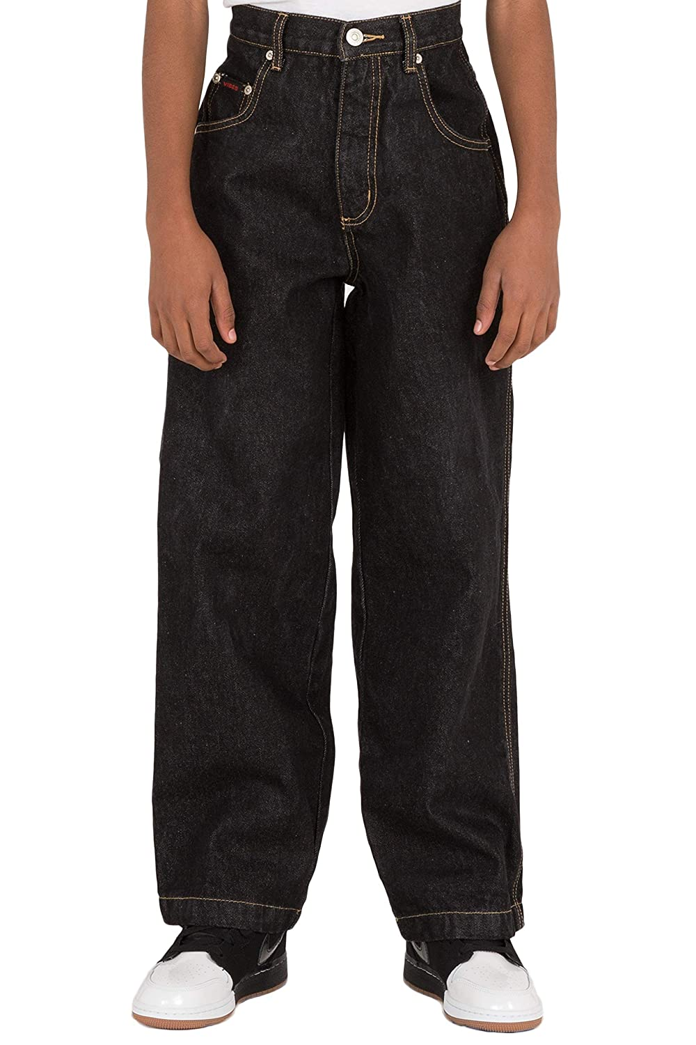 64a4581852 This comfortable casual carpenter style denim jeans is featured with 2  front scoop pockets