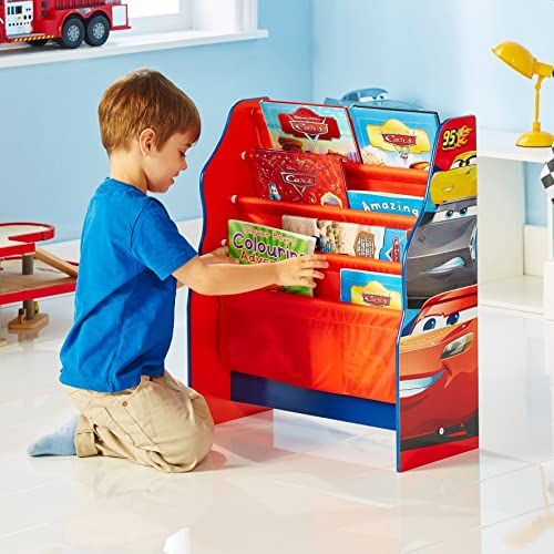 Disney Cars - Hängefach-Bücherregal für Kinder | Kinder Bücherregale mit Stoff