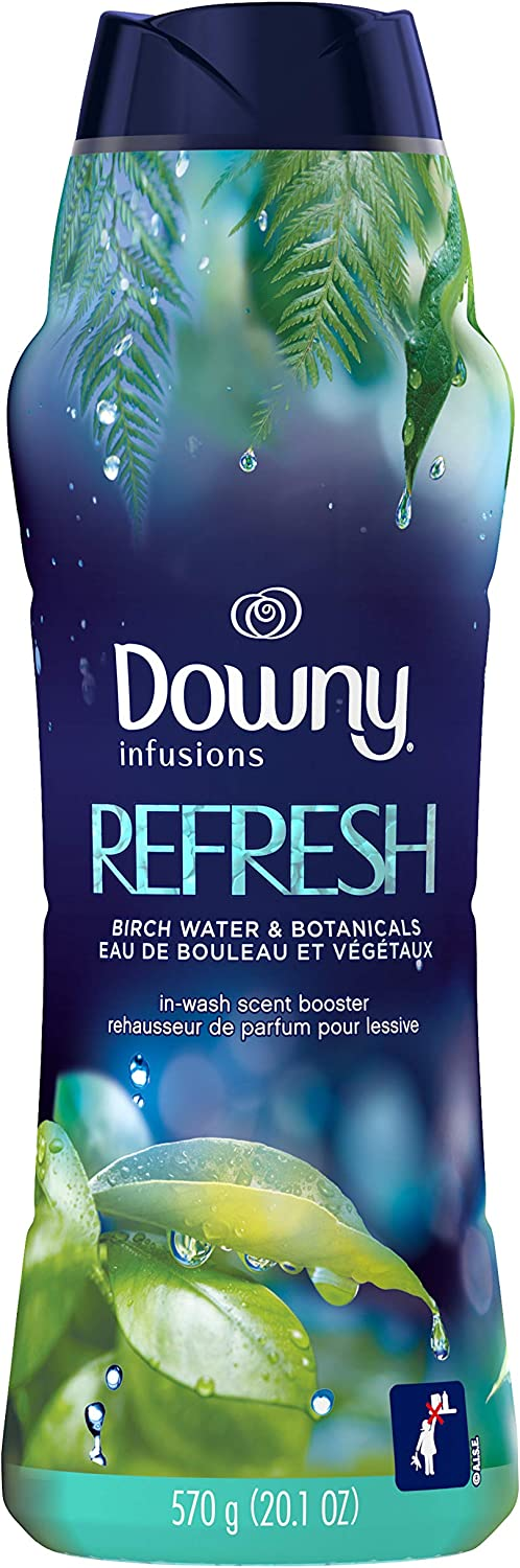 Downy Infusions in-Wash Scent Booster Beads, Refresh, Birch Water & Botanicals, 20.1 Oz, Pack of 1
