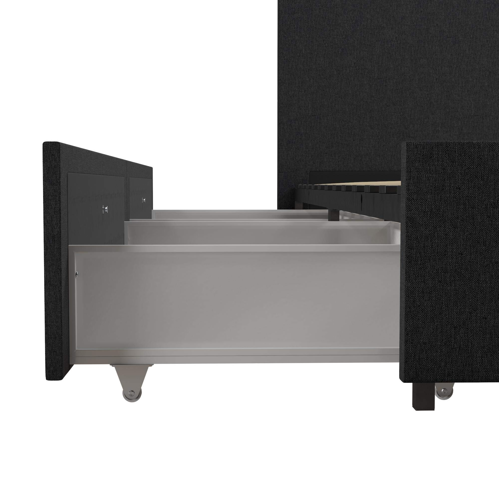 Novogratz Kelly Bed with Storage, Queen, Dark Gray Linen by Novogratz (Image #8)