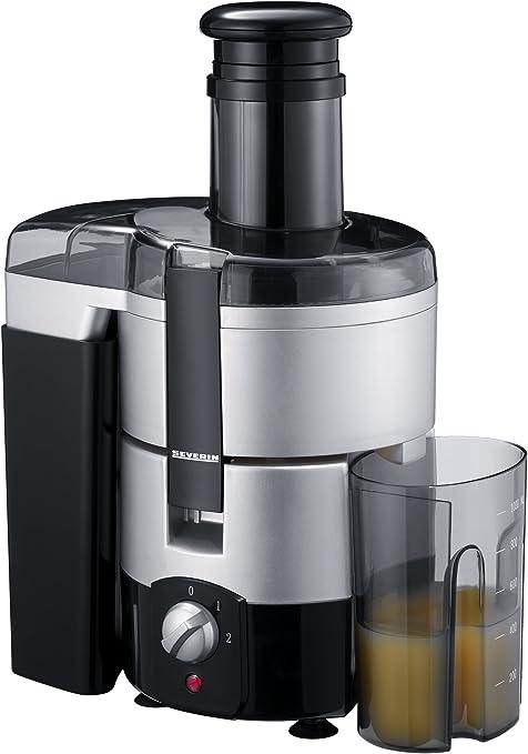 Severin ES 3559 Entsafter, silber schwarzTresterbehälter 2,0 Liter InhaltSaftauffangbehälter 1,0 Liter Inhalt