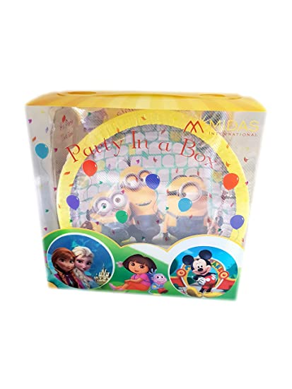 55 Pcs Child Minions Birthday Decoration Theme Supplies Boy Set