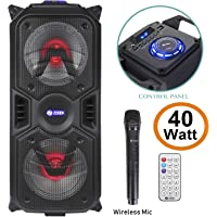 Zoook Rocker Thunder Plus 40 watts Karaoke Bluetooth Party Speaker with Remote & Wireless Mic(Black)